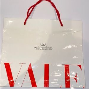 Auth Valentino large paper shopping bag Italy